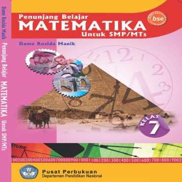 Penunjang Belajar Matematika Kelas 7 Dame Rosida Manik 2009
