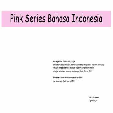 Montessori Pink Series Bahasa Indonesia