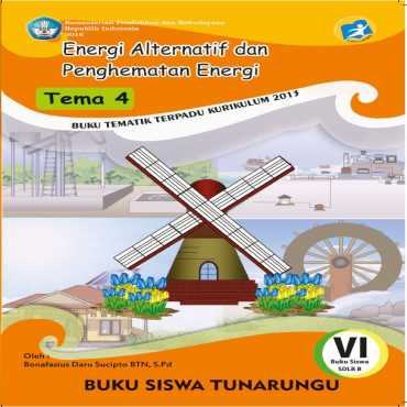 Buku Siswa Kelas VI 2016 Tunarungu Tema 4