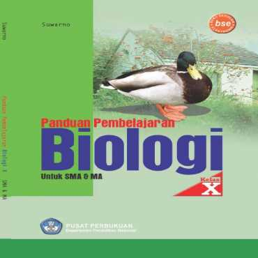 Panduan Pembelajaran Biologi Kelas 10 Suwarno 2009